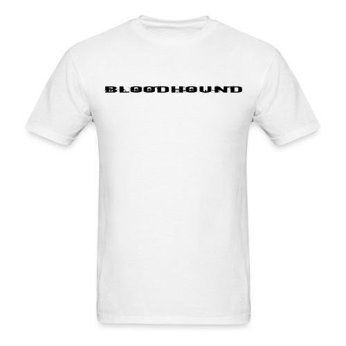 BLOODHOUND DOG BACK BLACK ON WHITE - Men's T-Shirt