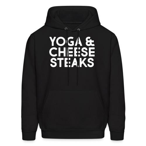 Yoga & Cheesesteaks - Men's Hoodie