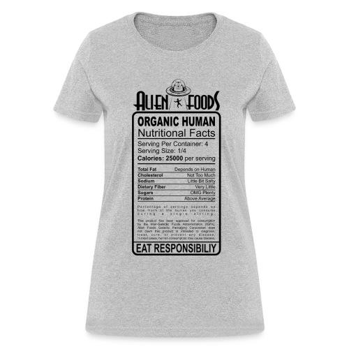 Alien Foods Nutritional Label - W - Women's T-Shirt