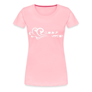 Cloud Up Vape On - White - Women's Premium T-Shirt