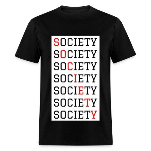 SOCIETY black shirt - Men's T-Shirt