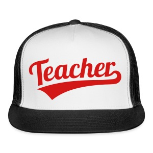 teacher hat RED GLITTER - Trucker Cap