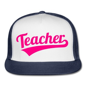 teacher hat neon pink - Trucker Cap