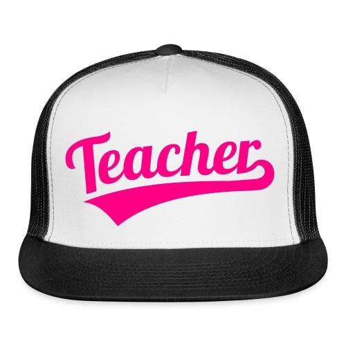 teacher hat neon pink - Trucker Cap