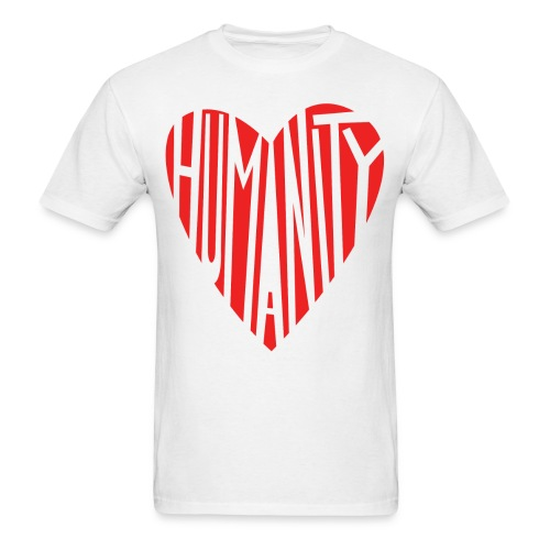 HUMANITY HEART by: Peter Mclean (ptermclean designs) - Men's T-Shirt