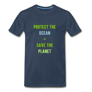 men's protect the ocean = save the planet tee - Men's Premium T-Shirt