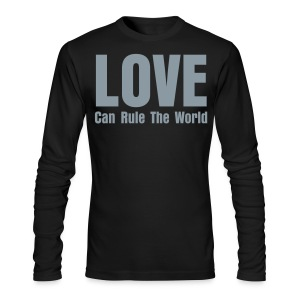 1915 (Love Can Rule The World) Black/Silver Long Sleave Tee (Mens) - Men's Long Sleeve T-Shirt by Next Level