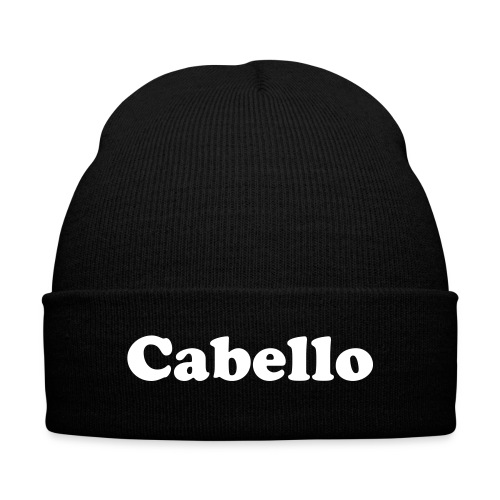 Cabello Beanie - Knit Cap with Cuff Print