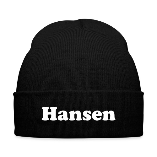 Hansen Beanie - Knit Cap with Cuff Print
