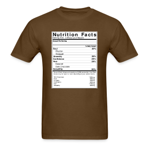 Melanin Nutrition Facts Tee (Unisex Sizes) - Men's T-Shirt
