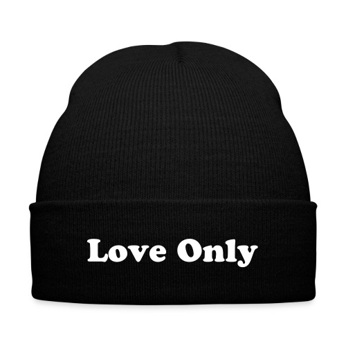CC Love Only Beanie - Knit Cap with Cuff Print