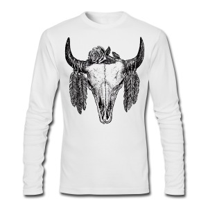 skull tattoo II - Men's Long Sleeve T-Shirt by Next Level