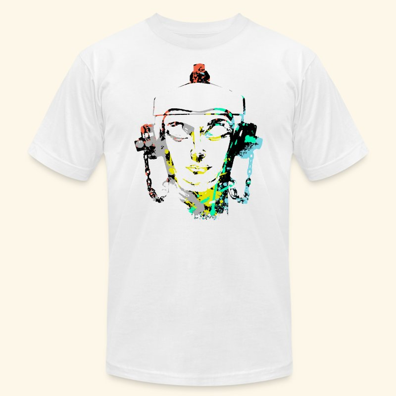 Fire hydrant with Headset by patjila2 - Men's T-Shirt by American Apparel
