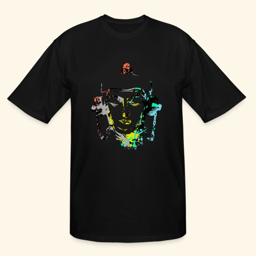 Fire hydrant with Headset by patjila2 - Men's Tall T-Shirt