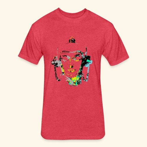 Fire hydrant with Headset by patjila2 - Fitted Cotton/Poly T-Shirt by Next Level