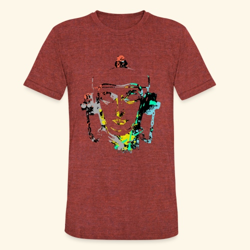 Fire hydrant with Headset by patjila2 - Unisex Tri-Blend T-Shirt by American Apparel