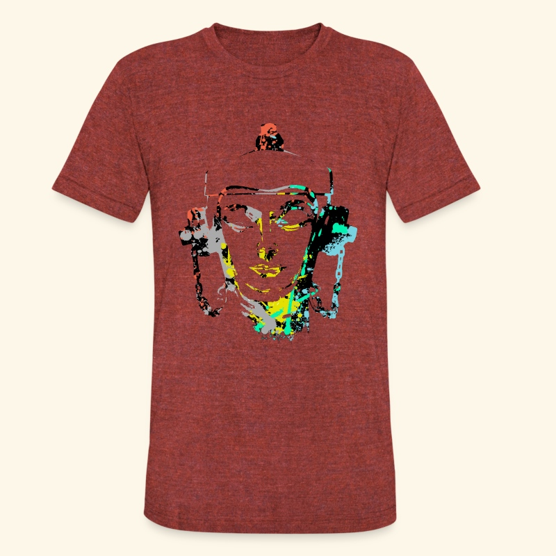 Fire hydrant with Headset by patjila2 - Unisex Tri-Blend T-Shirt