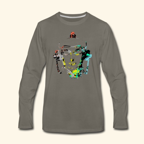 Fire hydrant with Headset by patjila2 - Men's Premium Long Sleeve T-Shirt