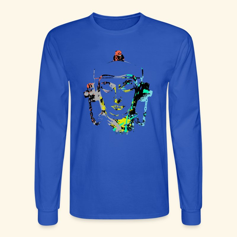 Fire hydrant with Headset by patjila2 - Men's Long Sleeve T-Shirt