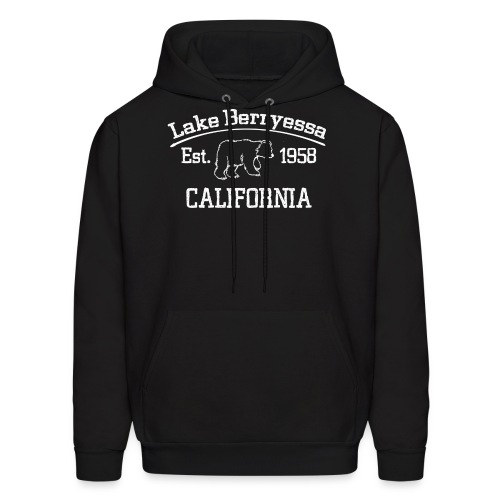 Lake Berryessa Hoodie (Bear, White) - Men's Hoodie