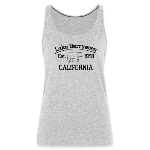 Women's Lake Berryessa Tanktop (Bear, Black) - Women's Premium Tank Top