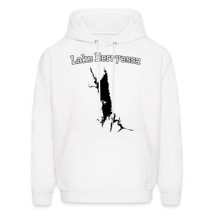 Lake Berryessa Hoodie (Lake Image, White) - Men's Hoodie