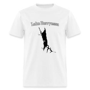 Lake Berryessa T-Shirt (Lake Image, White) - Men's T-Shirt