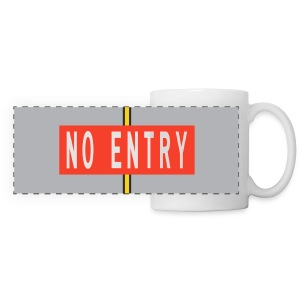 No Entry Marking panoramic mug - Panoramic Mug