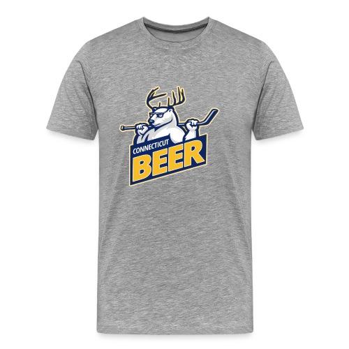 CT Beer Men's Heather Gray Shirt - Men's Premium T-Shirt