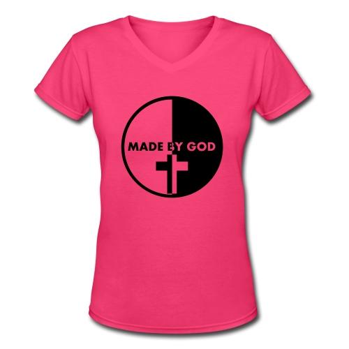 Made by God  - Women's V-Neck T-Shirt