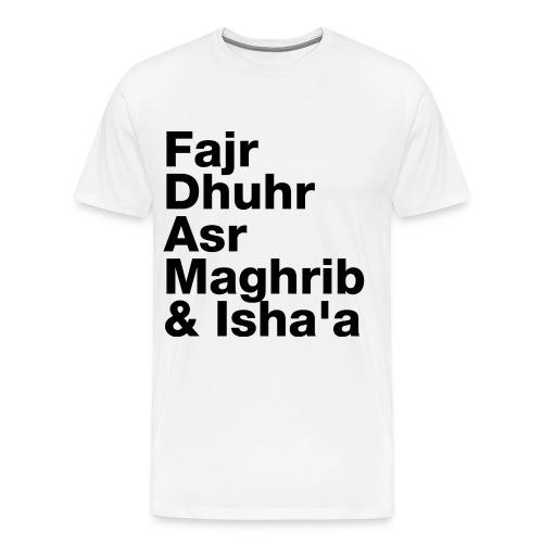 5 Daily Prayers - Men's Premium T-Shirt