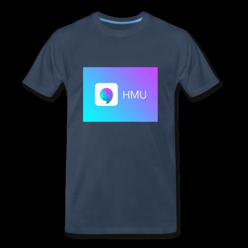 HMU WITH DAT GRADIENT ON NAVY - Men's Premium T-Shirt