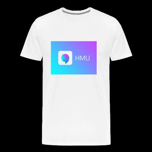 HMU WITH DAT GRADIENT ON WHITE - Men's Premium T-Shirt