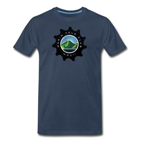 Marin Velo Club DIstressed Chainring Mens T-shirt - Men's Premium T-Shirt