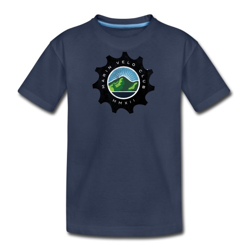 Marin Velo Club DIstressed Chainring Kids T-shirt - Kids' Premium T-Shirt