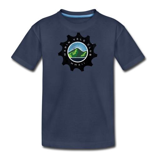 Marin Velo Club DIstressed Chainring Kids T-shirt - Kids' Premium T-Shirt