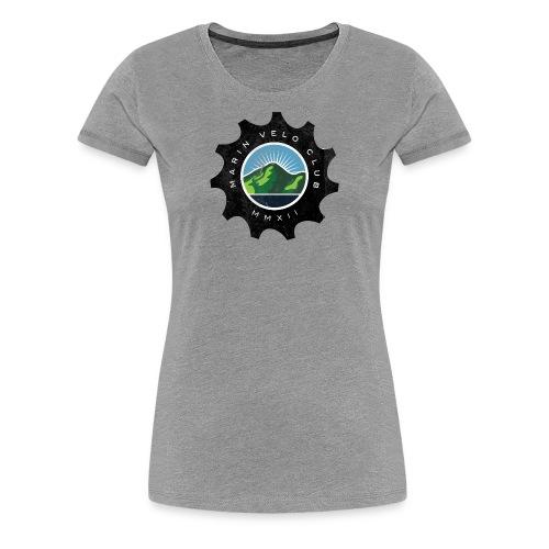 Marin Velo Club DIstressed Chainring Womens T-shirt - Women's Premium T-Shirt