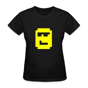 MegaZeux Pixel Smiley - Cool Guy - Sunglasses - Girly - Women's T-Shirt