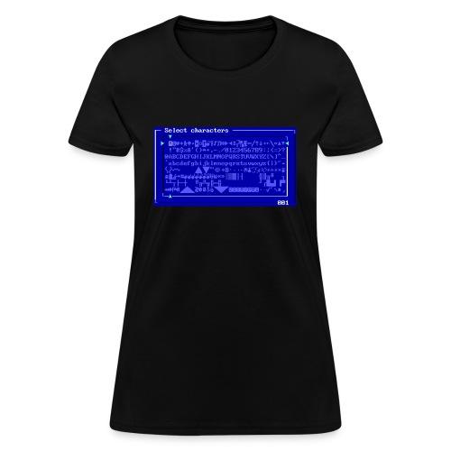 MegaZeux Character Set - Girly - Women's T-Shirt