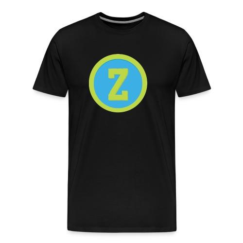 Coin Blue Male T-shirt - Men's Premium T-Shirt