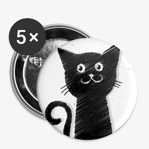 tiny demons cat button - Small Buttons
