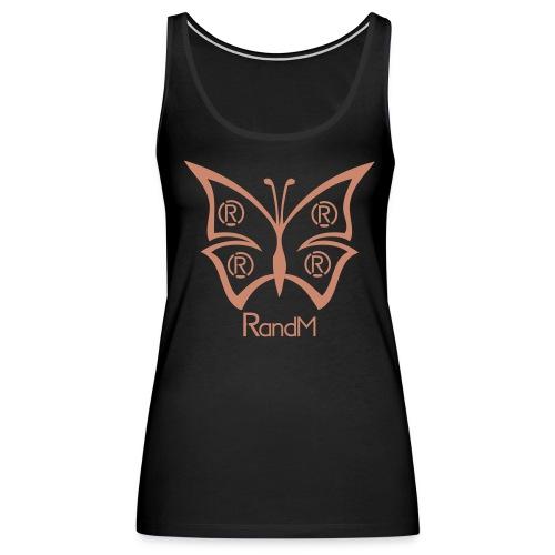 (R)andM Pink Glitter Butterfly - Black Tank - Women's Premium Tank Top