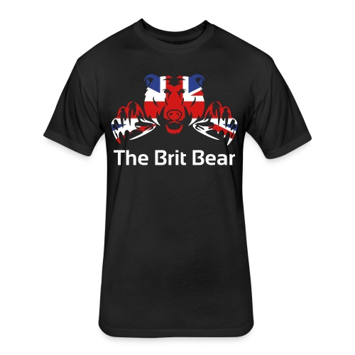 Brit Bear RAF - Fitted Cotton/Poly T-Shirt by Next Level