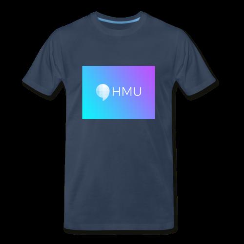 HMU WITH DAT CLEAN GRADIENT ON NAVY - Men's Premium T-Shirt