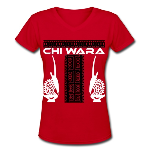 Chi Wara - Women's V-Neck T-Shirt