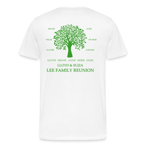 Adult Lee Family Reunion (Blank Front Green) - Men's Premium T-Shirt