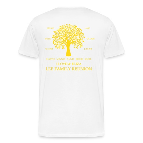 Adult Lee Family Reunion (Blank Front Gold) - Men's Premium T-Shirt