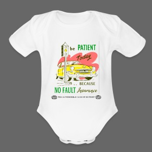 No Fault in Michigan - Short Sleeve Baby Bodysuit