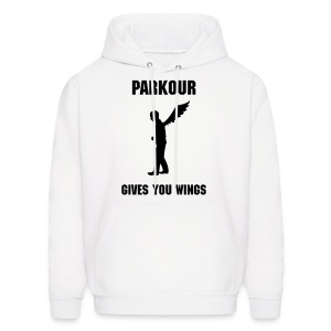 PARKOUR GIVES YOU WINGS MEN'S HOODIE - Men's Hoodie