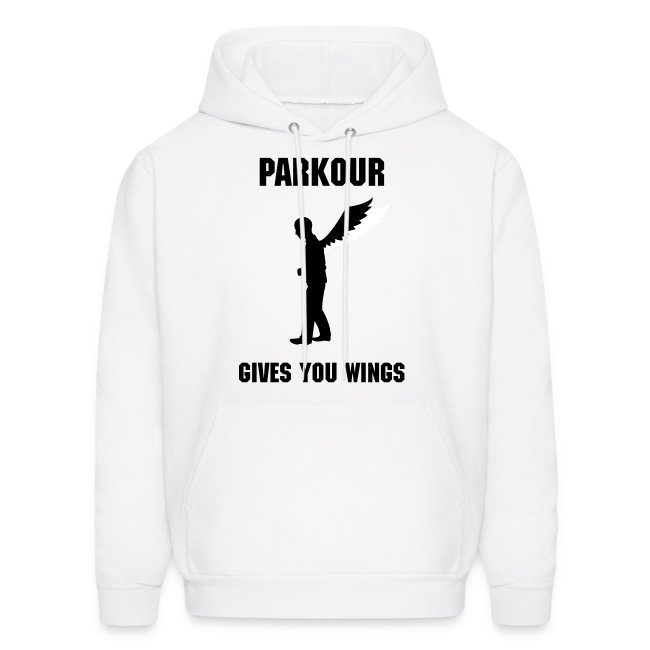 PARKOUR GIVES YOU WINGS MEN'S HOODIE
